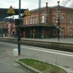 Hundertwasserbahnhof in Uelzen auf der Fahrt nach Hamburg